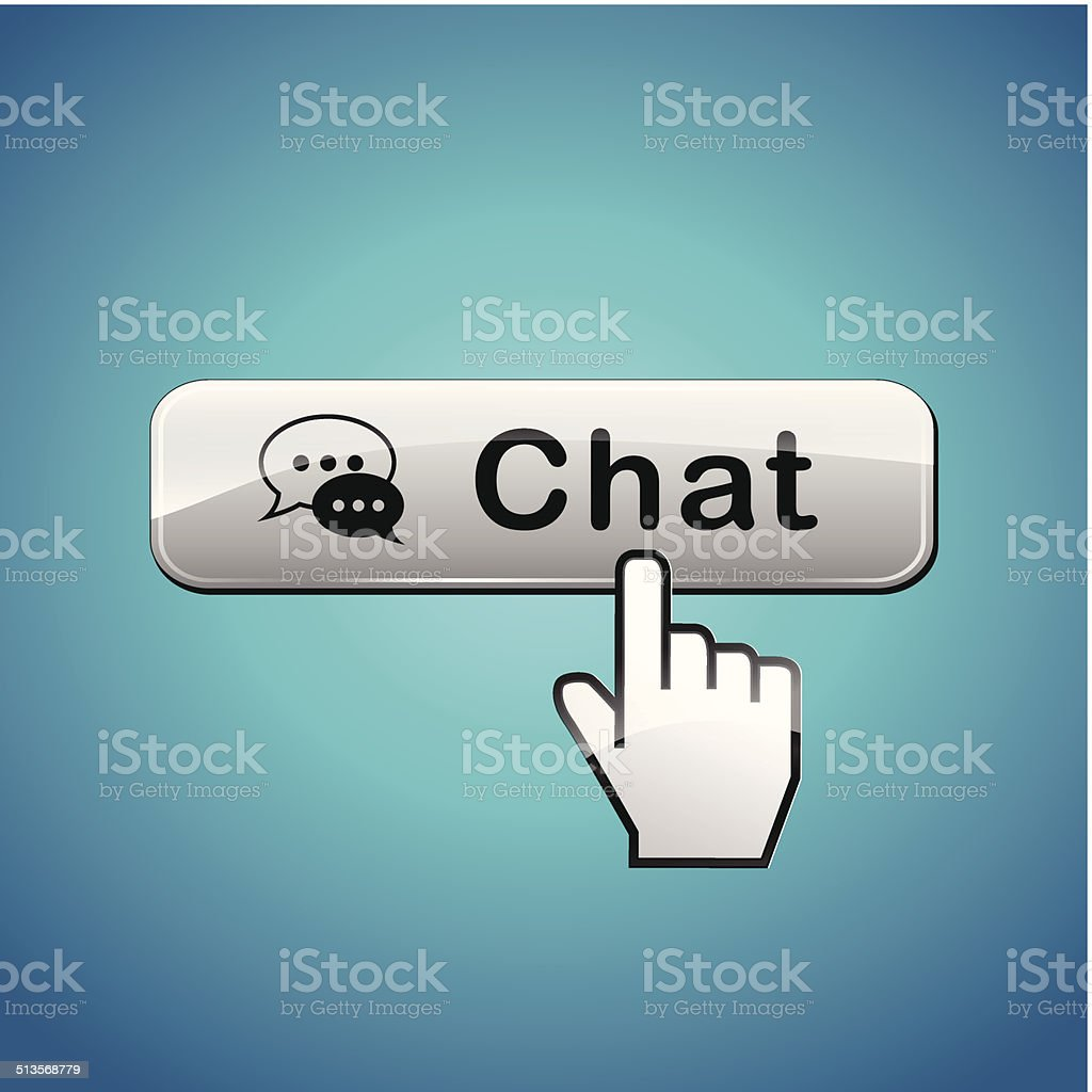Vector chat button vector art illustration