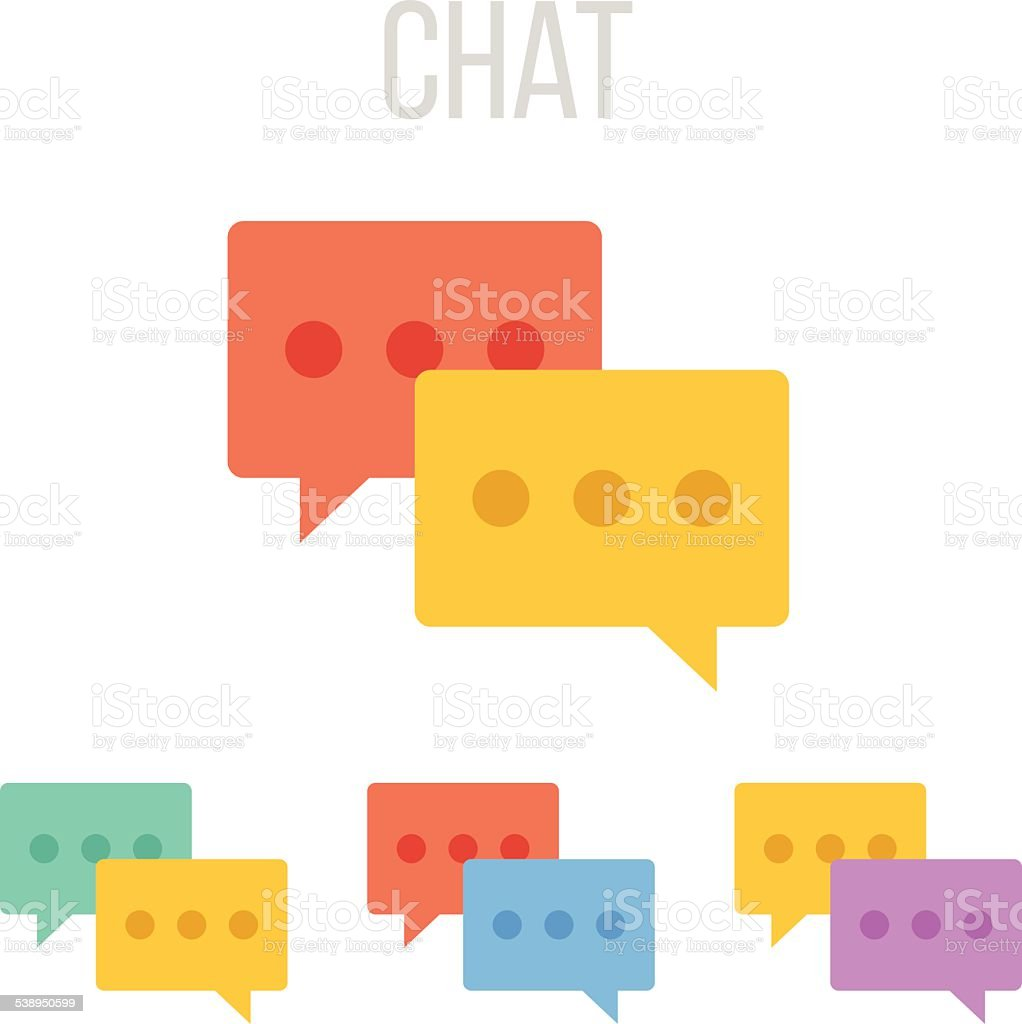 Vector chat icons vector art illustration