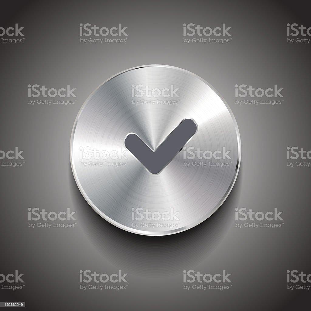 Vector check button royalty-free stock vector art
