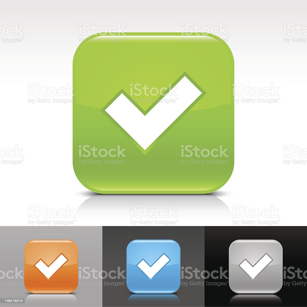 Vector check mark icon set with varying colors royalty-free stock vector art