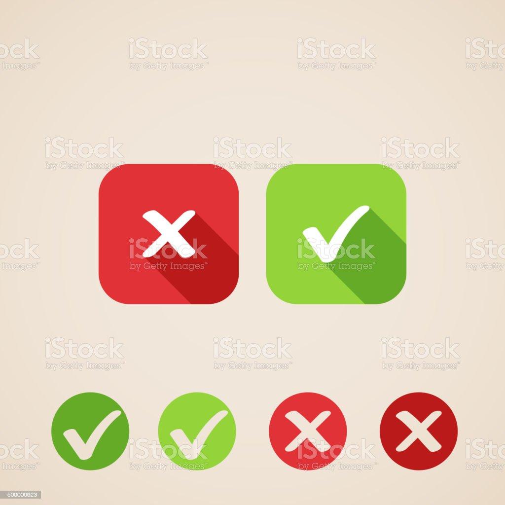 vector check mark icons vector art illustration