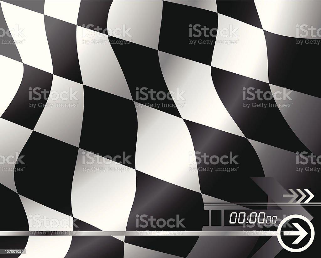 Vector Checkered flag. vector art illustration