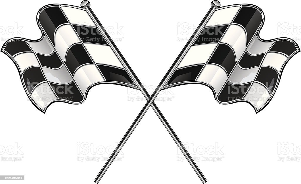 Vector Checkered Flags royalty-free stock vector art