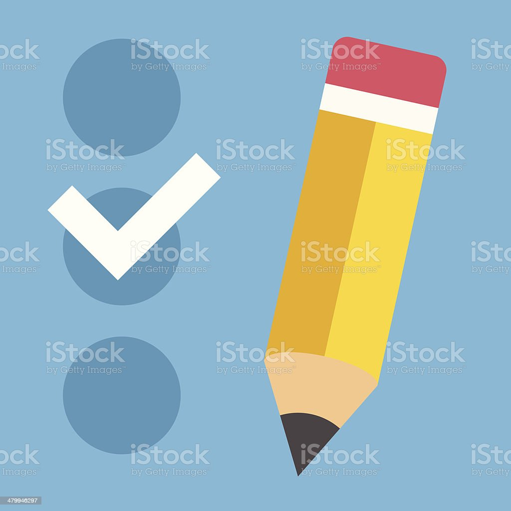 Vector Checklist Icon vector art illustration