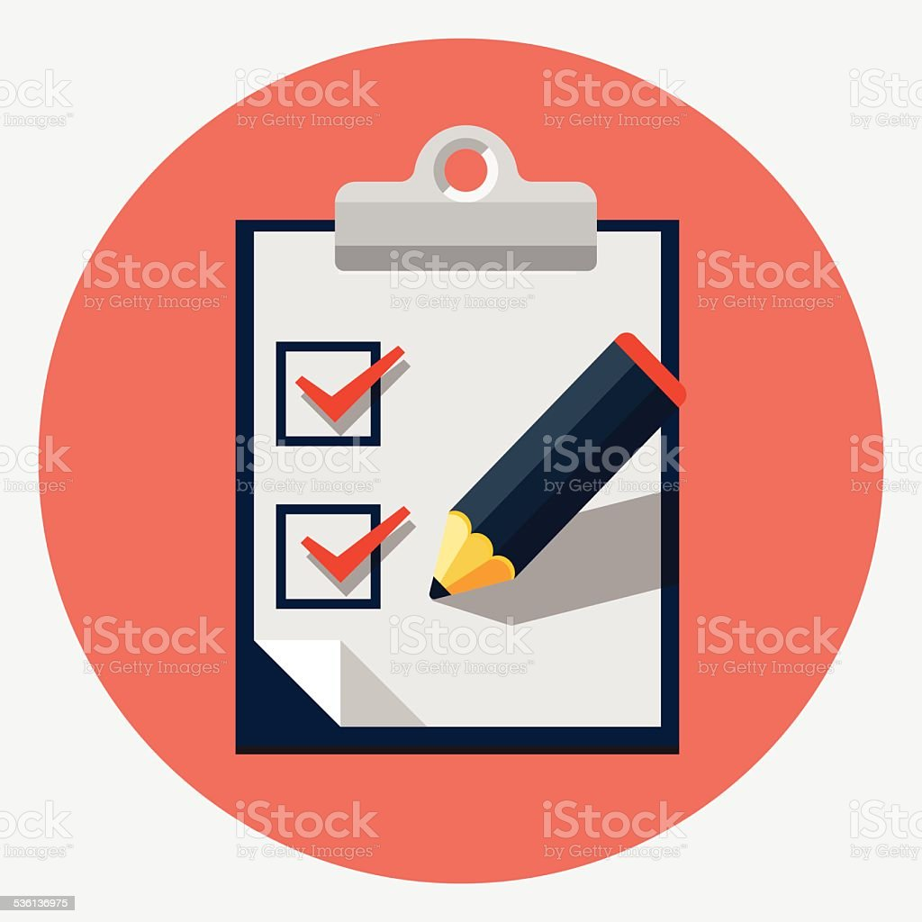 Vector checklist icon vector art illustration