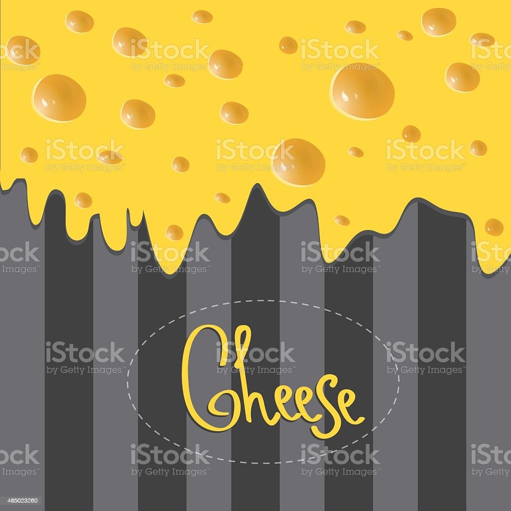 Vector Cheese brochure on background made of stripes vector art illustration