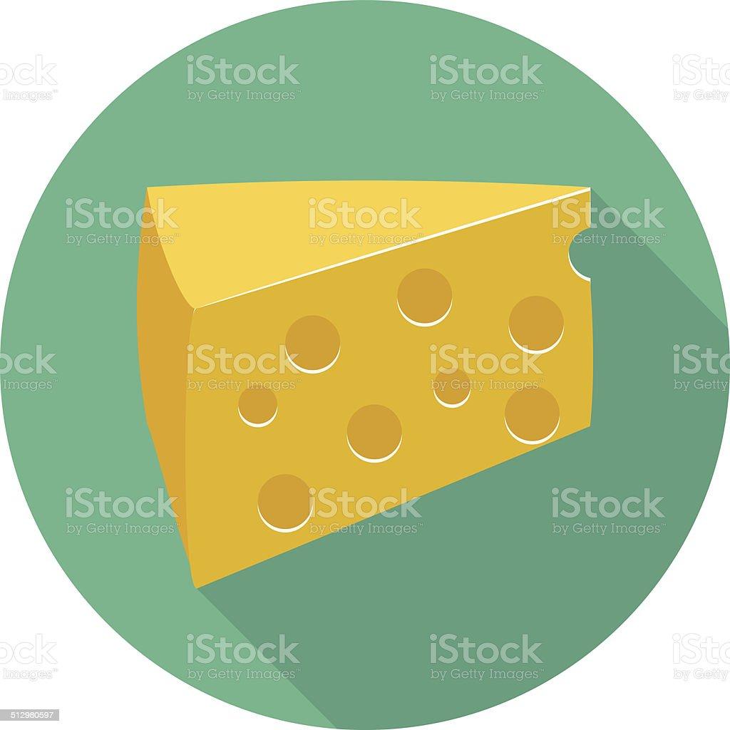 Vector cheese icon vector art illustration