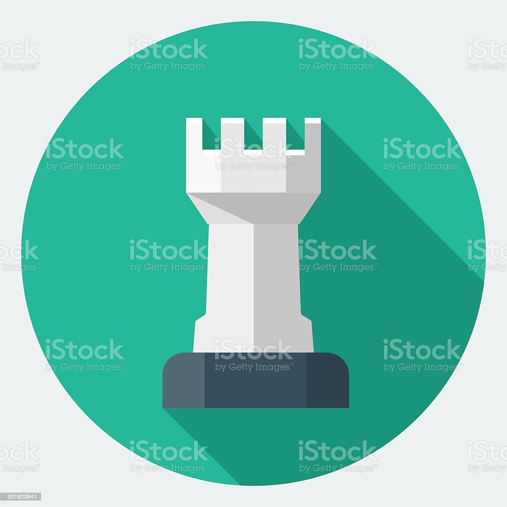 Vector Chess Rook icon vector art illustration