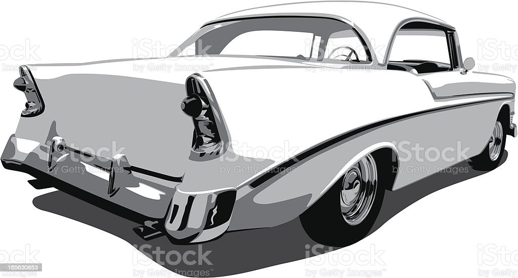 Vector Chevrolet Car from 1950's vector art illustration