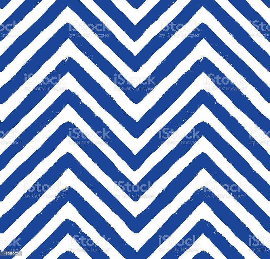 Vector Chevron Blue Seamless Pattern vector art illustration