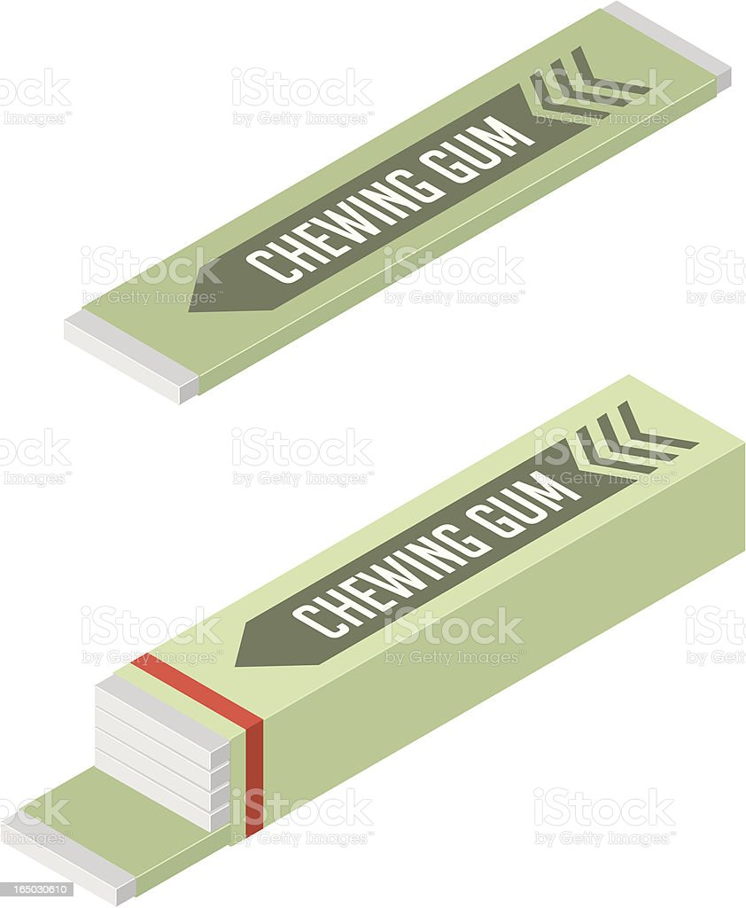 Vector Chewing Gum royalty-free stock vector art