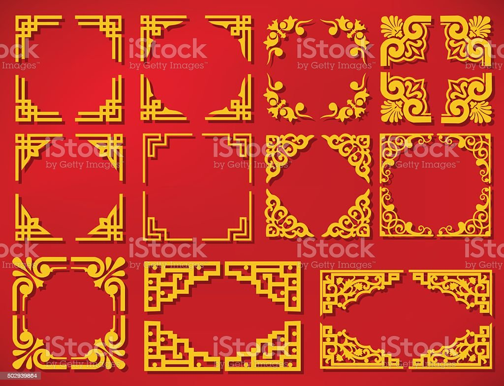 vector china new year frame vector art illustration