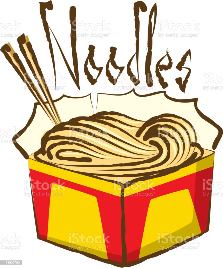 Vector Chinese Noodles vector art illustration