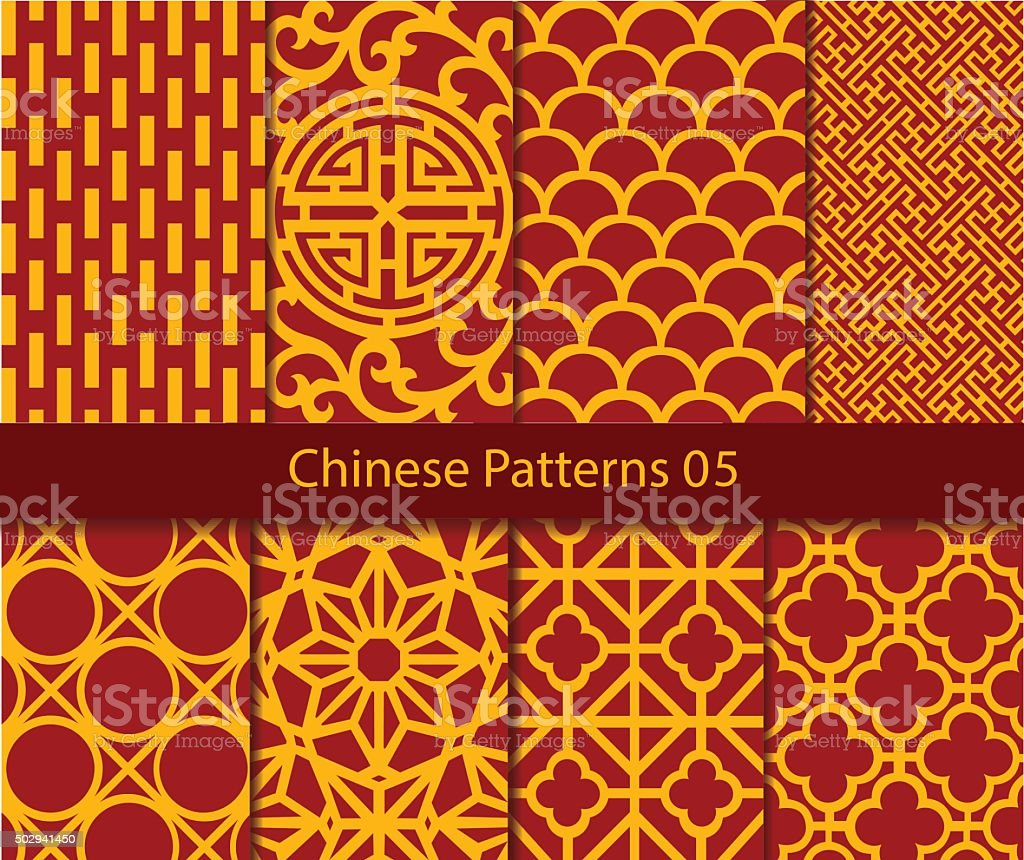 vector Chinese traditional pattern collection vector art illustration
