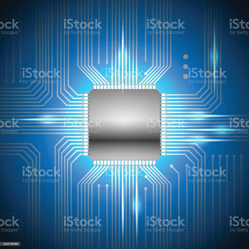 Vector chip vector art illustration