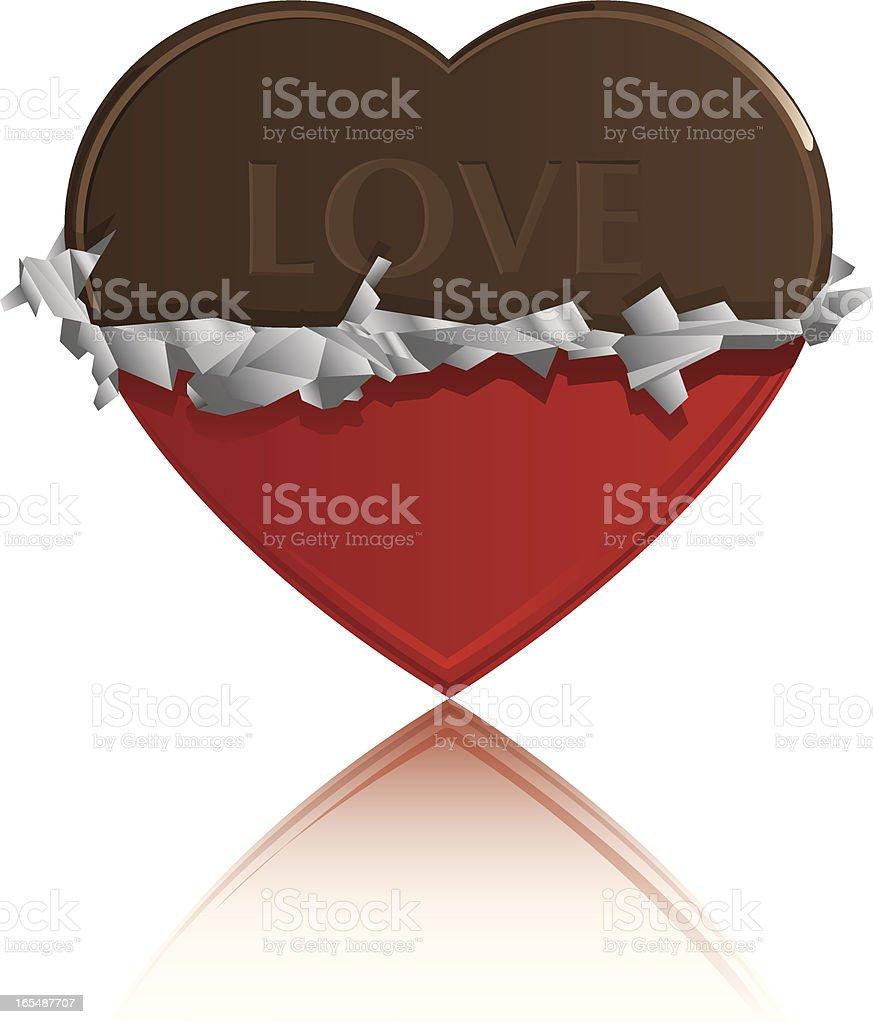Vector Chocolate Heart royalty-free stock vector art