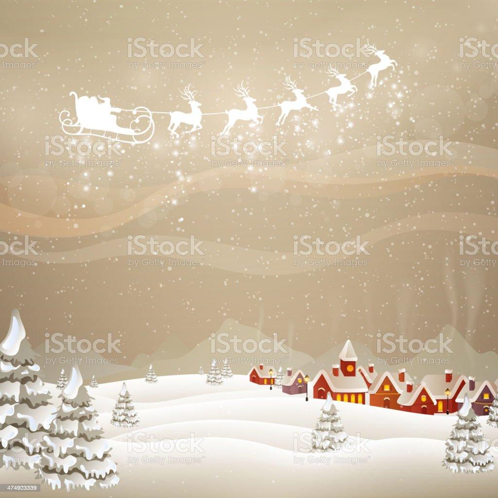 Vector Christmas Background vector art illustration