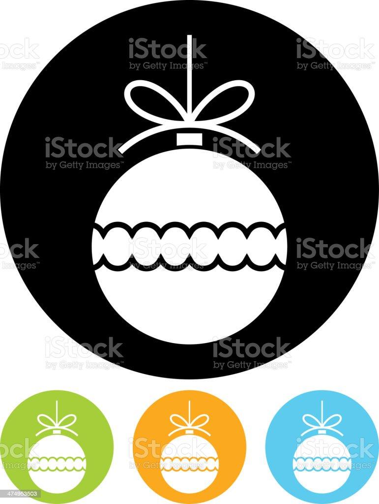 Vector Christmas ball icon vector art illustration