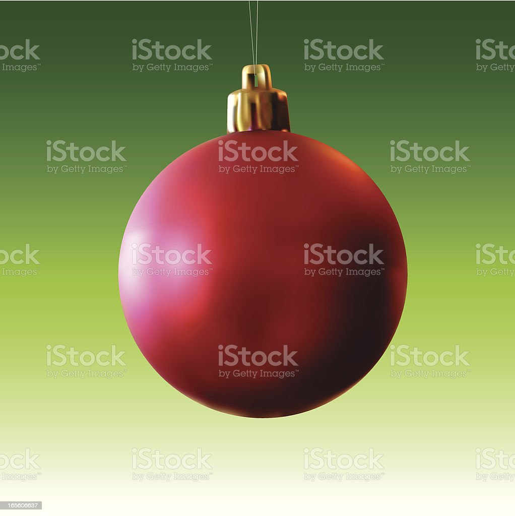 vector christmas ball over green background royalty-free stock vector art