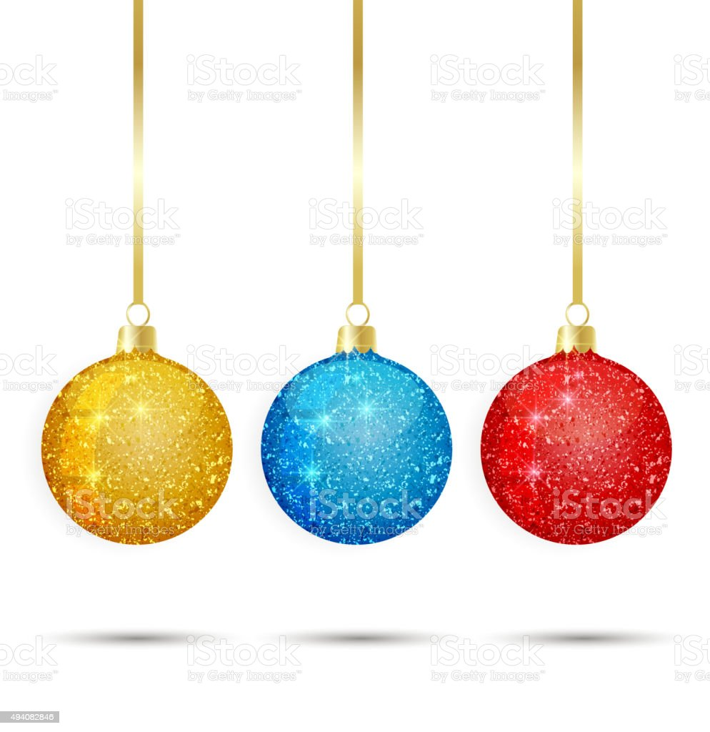 Vector Christmas balls vector art illustration