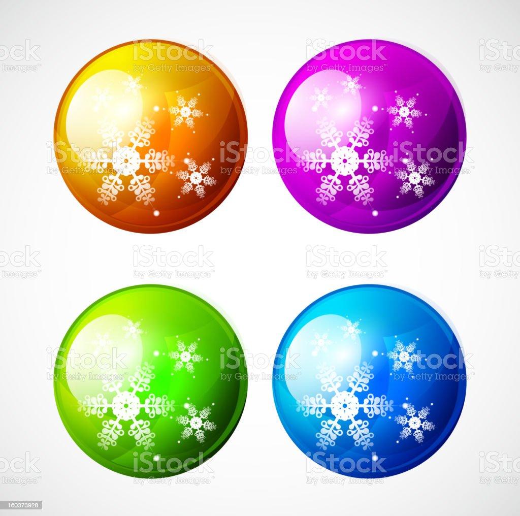 Vector Christmas baubles royalty-free stock vector art
