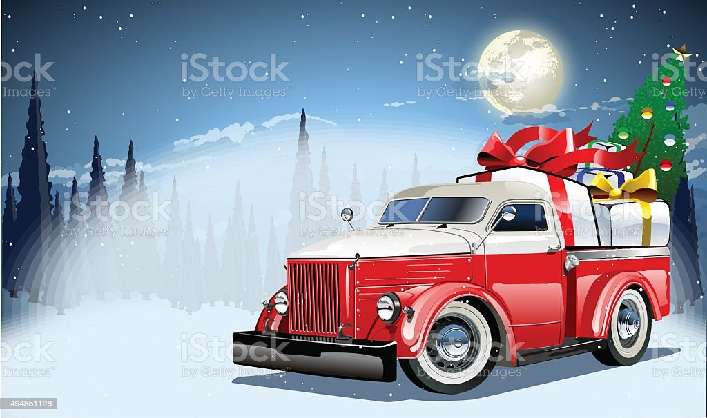 Vector Christmas Card vector art illustration