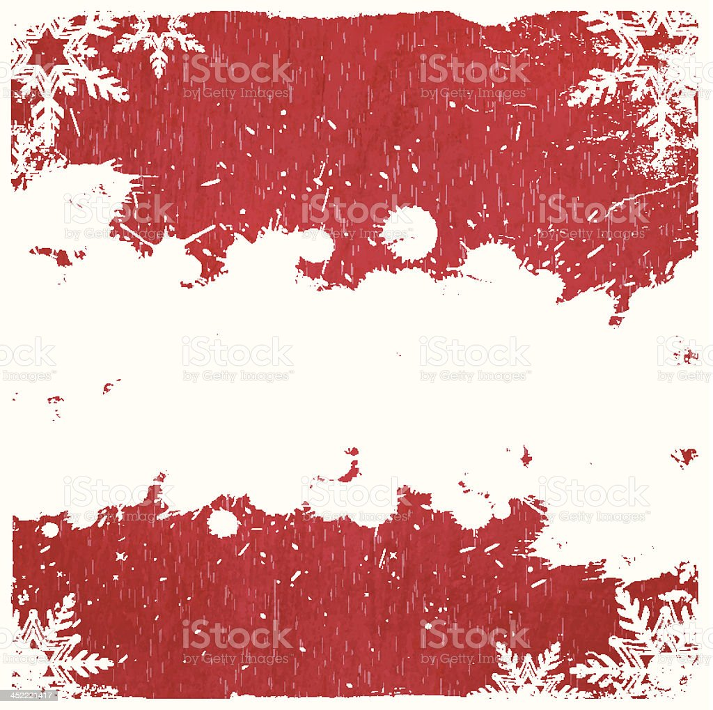 Vector Christmas Grunge Background vector art illustration