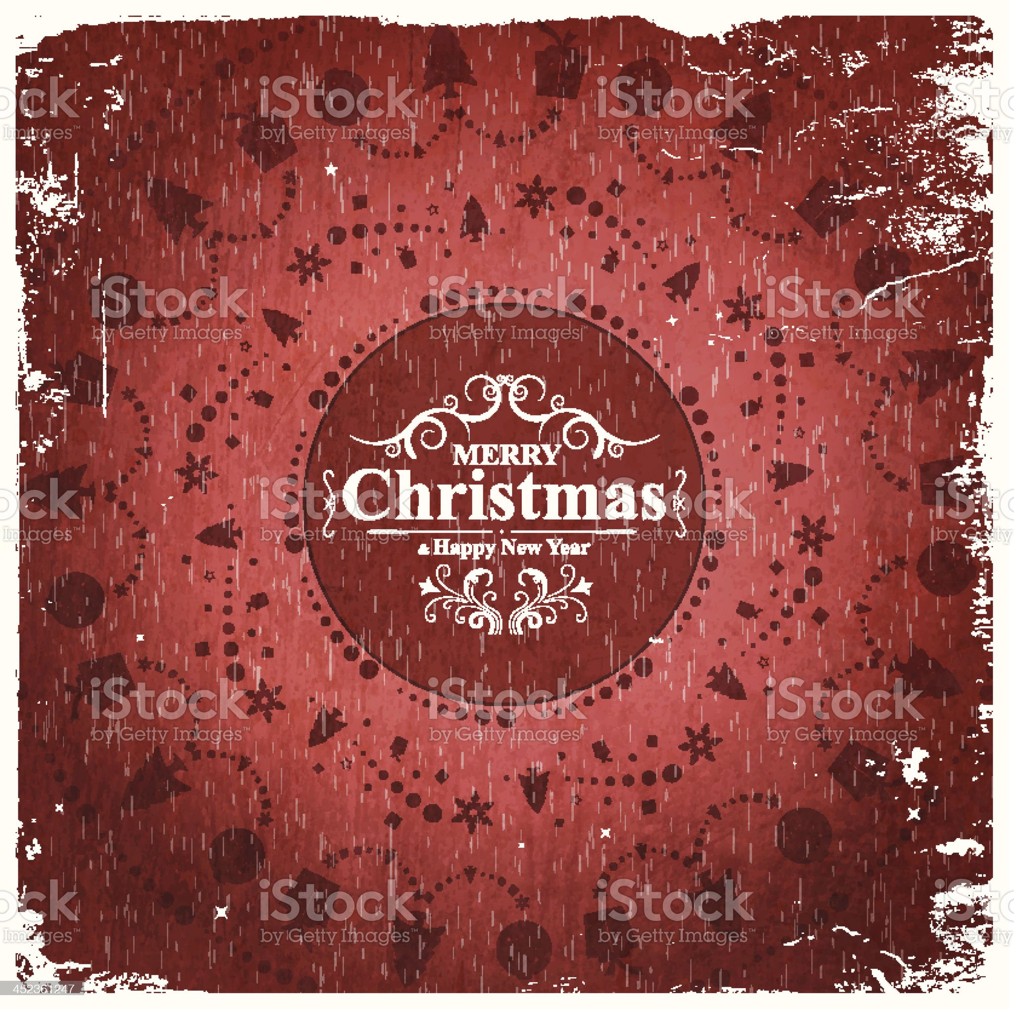 Vector Christmas grungy Illustration royalty-free stock vector art