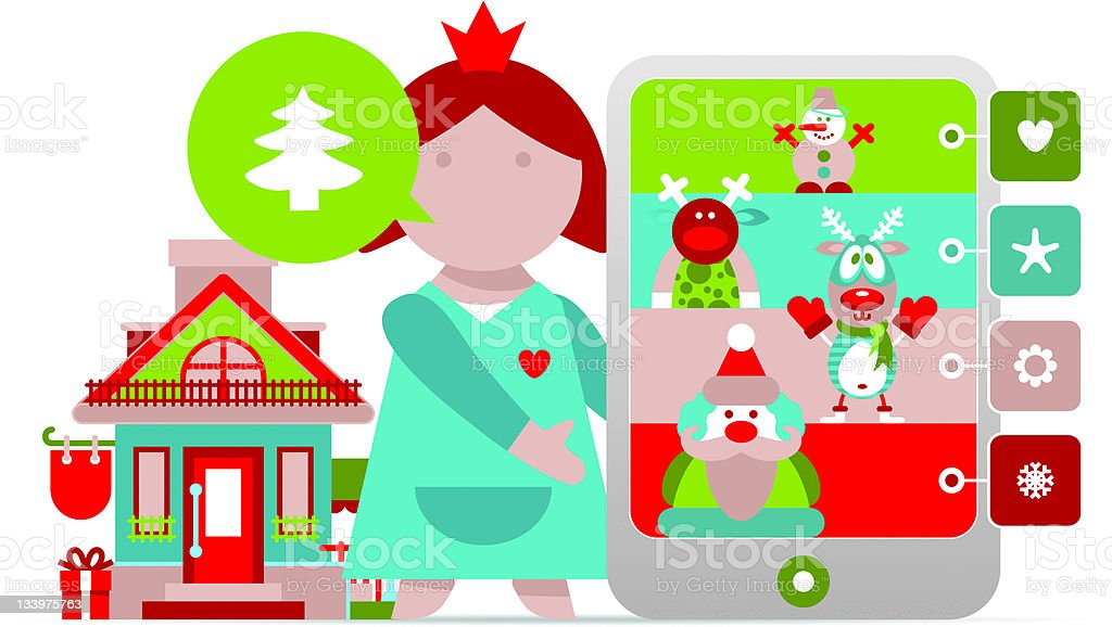 Vector Christmas infographics royalty-free stock vector art