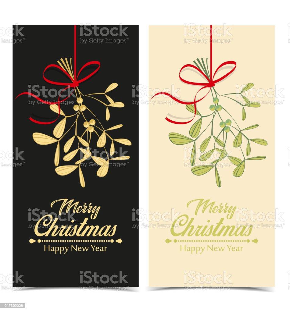 Vector Christmas Mistletoe vector art illustration