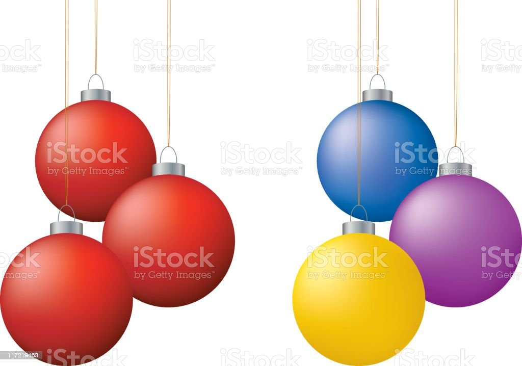 Vector christmas ornaments royalty-free stock vector art