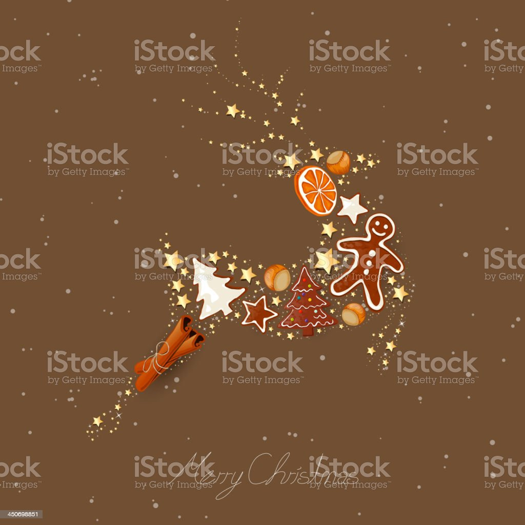 Vector Christmas Reindeer royalty-free stock vector art