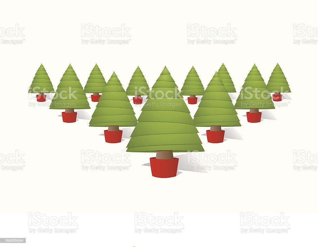 Vector Christmas Trees royalty-free stock vector art