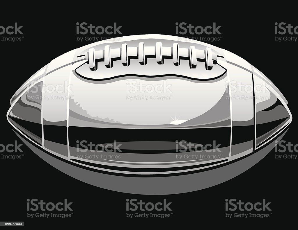 Vector Chrome Football vector art illustration