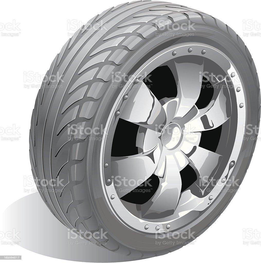 vector chrome wheel royalty-free stock vector art