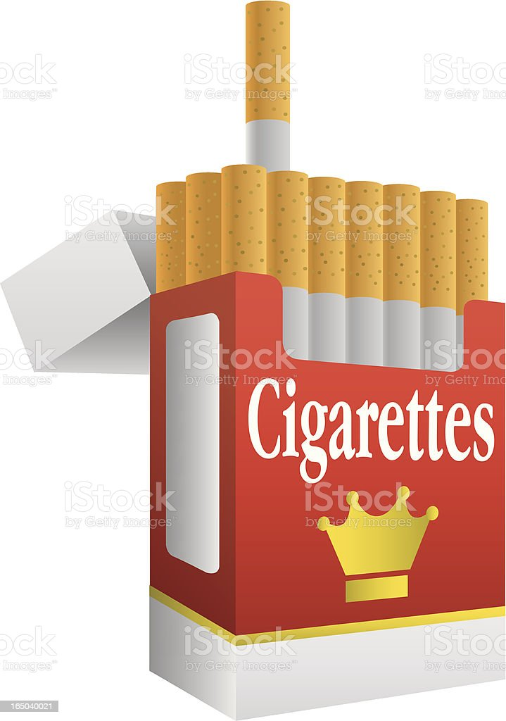 Vector Cigarettes royalty-free stock vector art