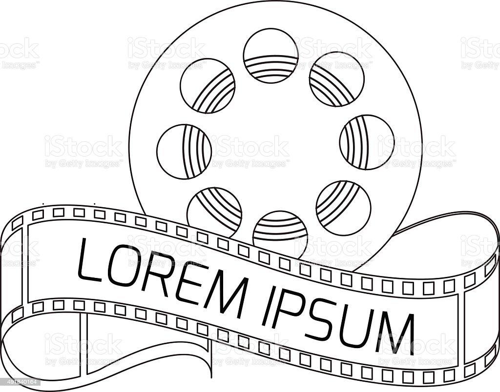 Vector cinema icon vector art illustration