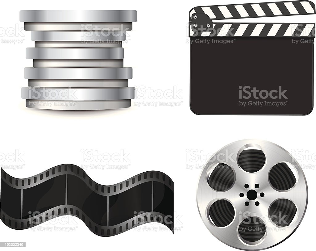 Vector cinema symbols royalty-free stock vector art