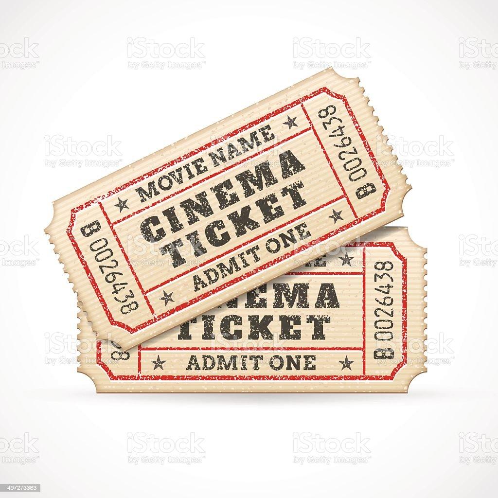 Vector Cinema tickets vector art illustration