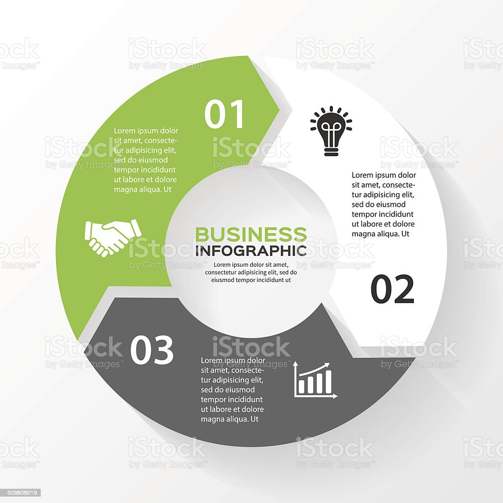 Vector circle arrows for infographic. vector art illustration