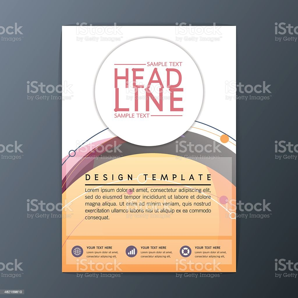 vector circle design abstract brochure background business 1 credit