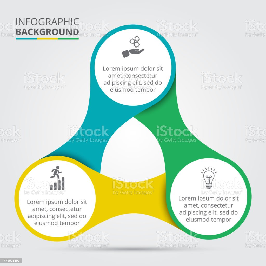 Vector circle element for infographic. vector art illustration