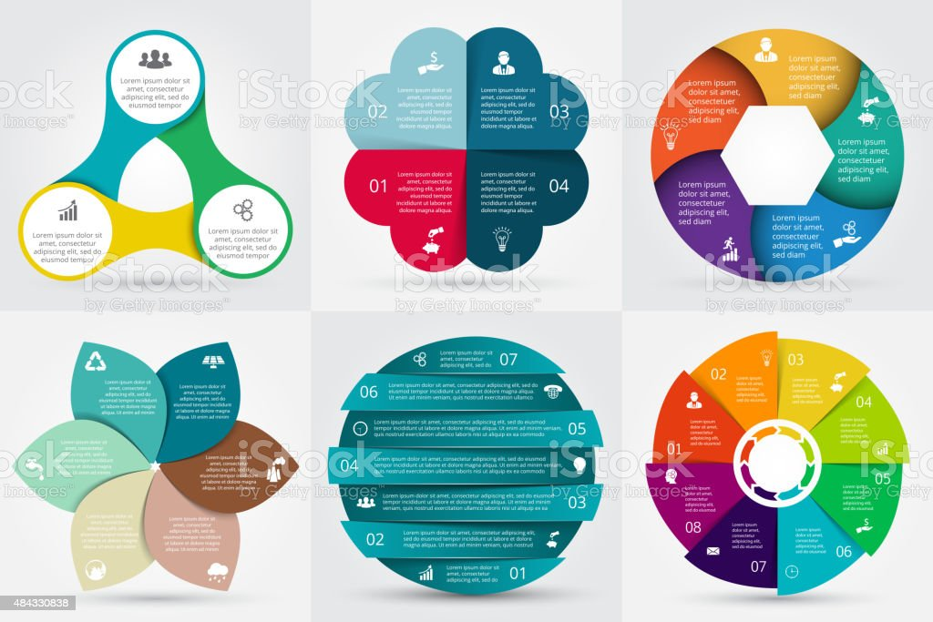 Vector circle elements for infographic. vector art illustration