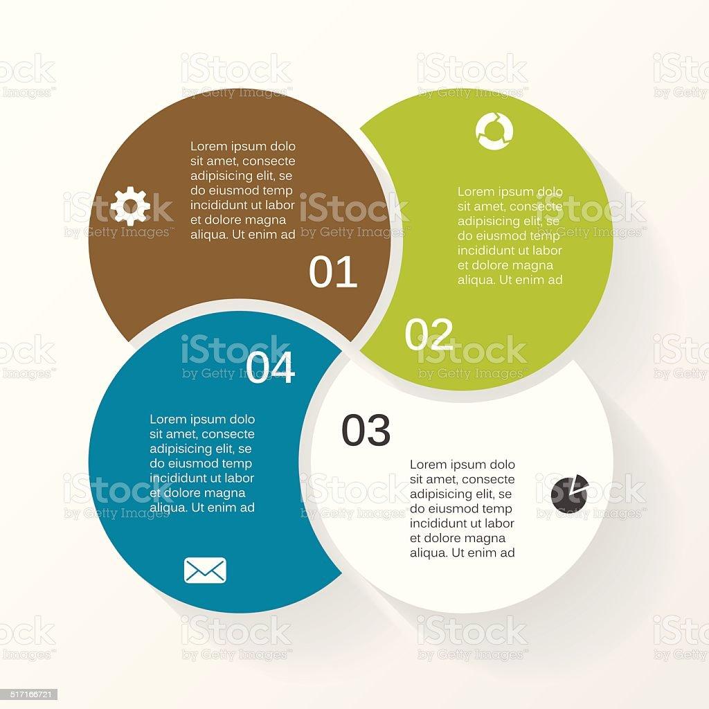 Vector circle infographic diagram 4 options vector art illustration