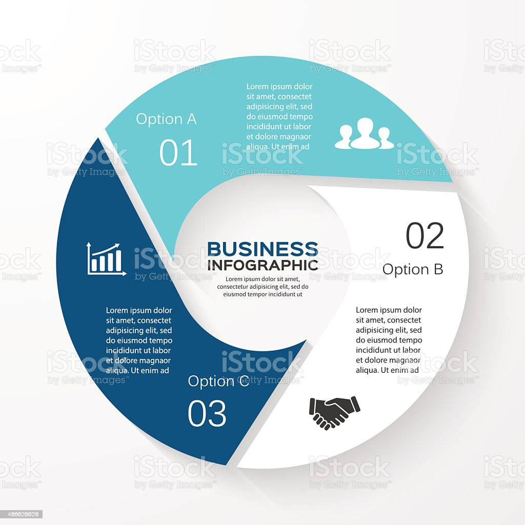 Vector circle infographic. Template for cycle diagram, graph, presentation and vector art illustration