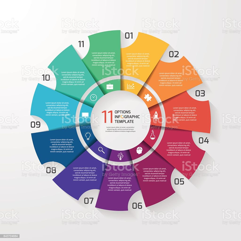 Vector circle infographic template for graphs, charts, diagrams. vector art illustration