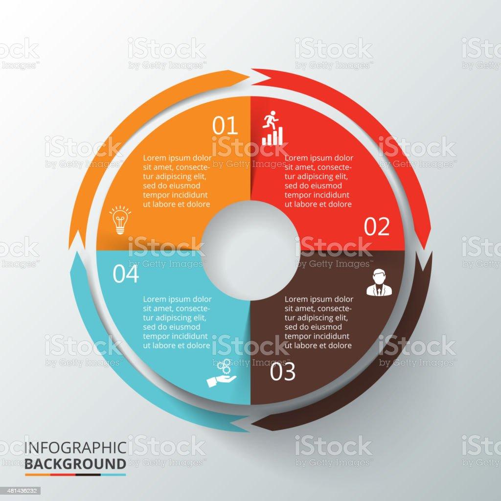 Vector circle infographic. vector art illustration