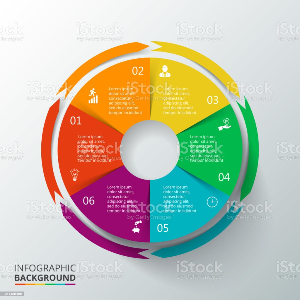 Vector circle infographic. vector art illustration