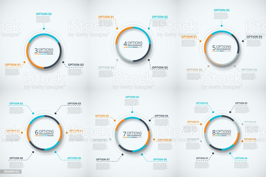 Vector circle infographic. royalty-free stock vector art