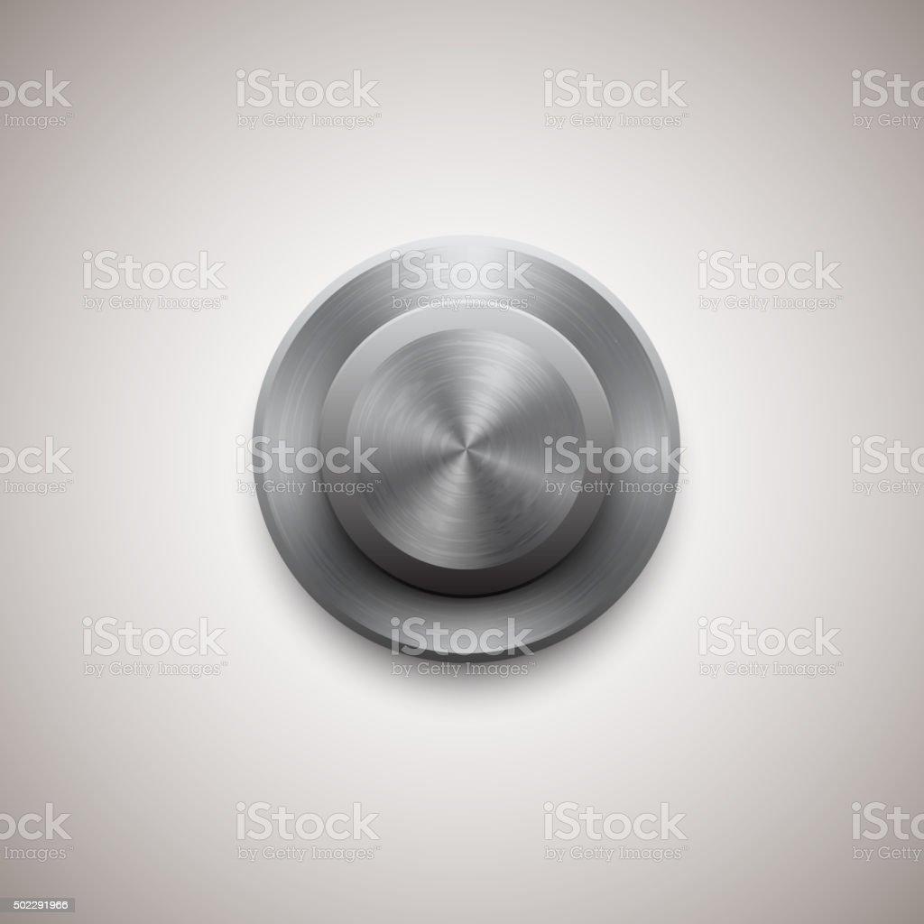Vector circle regulator button vector art illustration